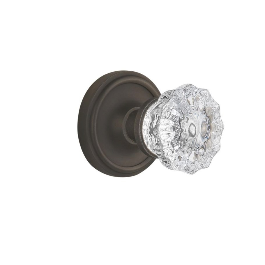 Nostalgic Warehouse Classic Rosette Double Dummy Crystal with regard to Oil Rubbed Bronze Door Knobs