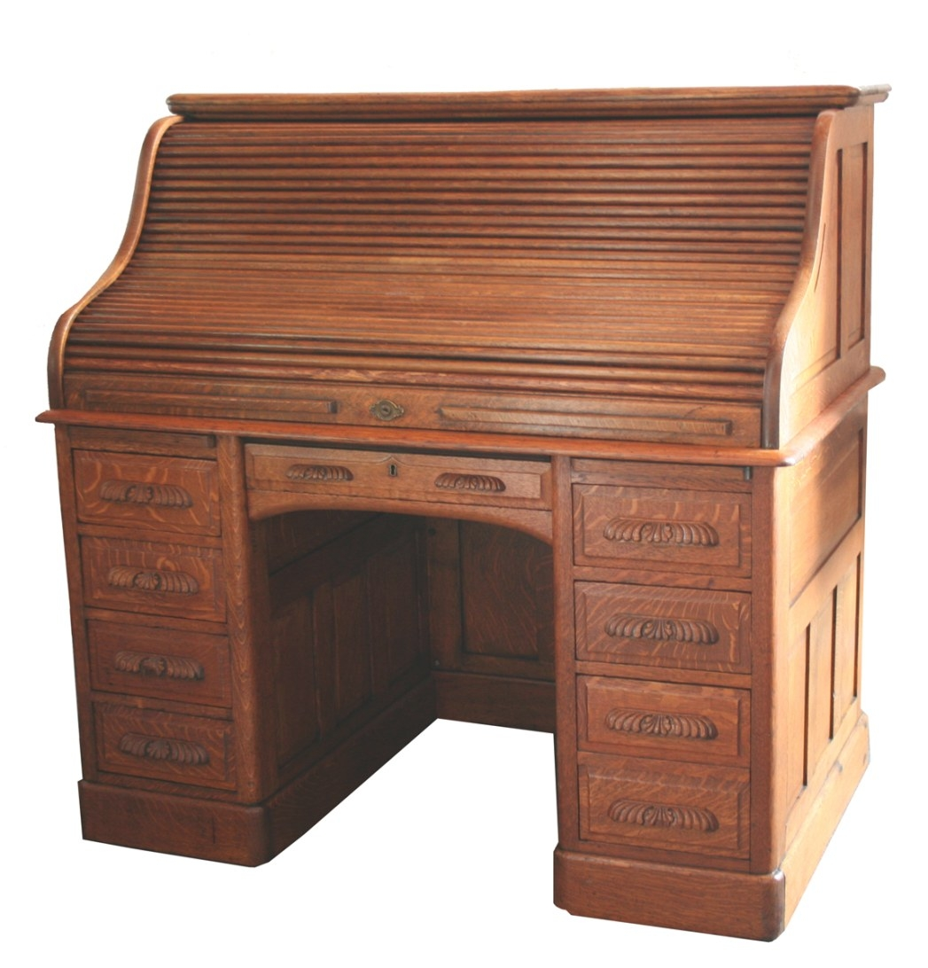 Oak Roll Top Desk For Sale | Antiques | Classifieds regarding Oak Roll Top Desk