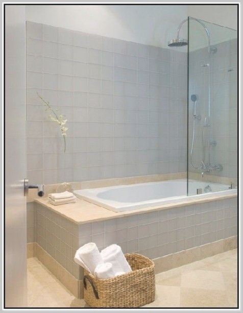 One Piece Tub Shower Combo | Bathroom Tub Shower, Tub inside Soaking Tub Shower Combo