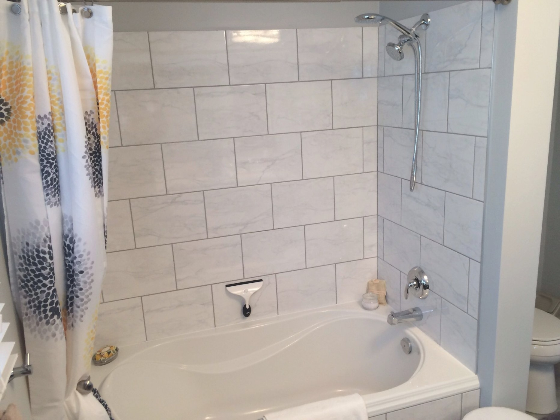 Our Soaker Tub/Shower Combo … | Inexpensive Bathroom in Soaking Tub Shower Combo