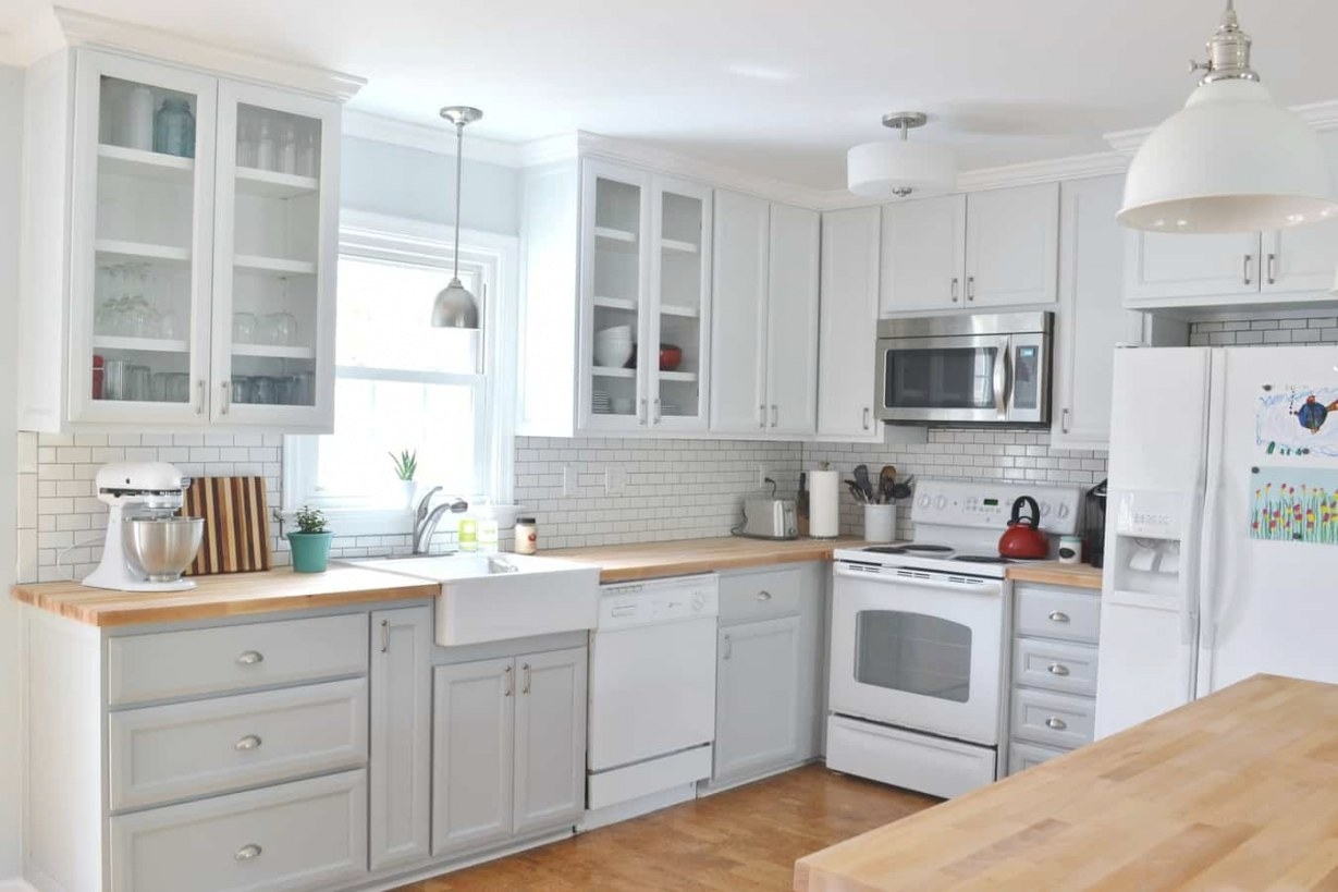 Our Updated Gray And White Kitchen Makeover throughout White And Gray Kitchens