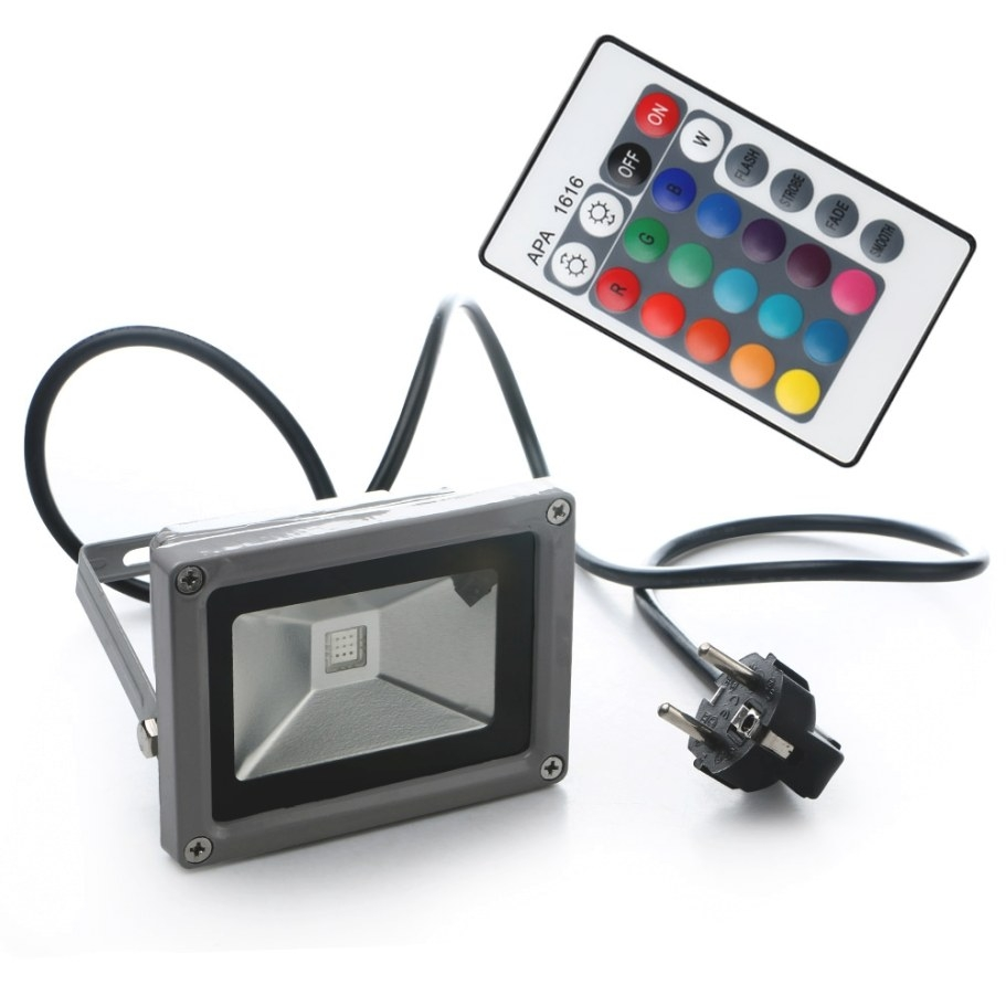 Outdoor 10W Rgb Waterproof Led Flood Light Landscape Lamp with Remote Control Outdoor Lights