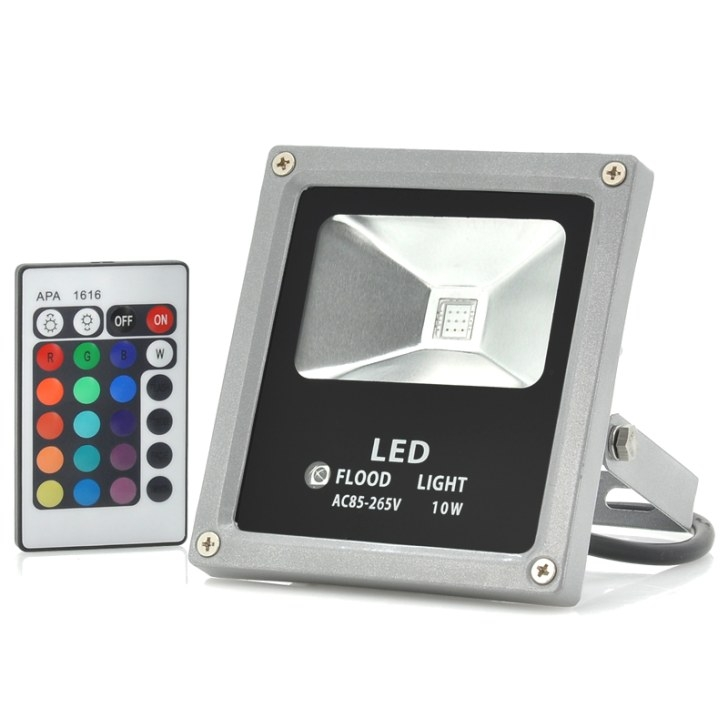 Outdoor Waterproof Led Flood Light (10W, Multicolor within Remote Control Outdoor Lights