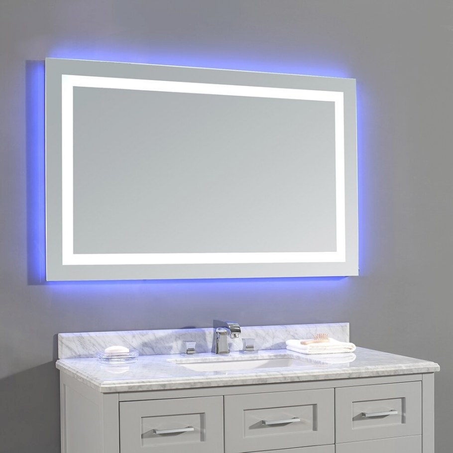 Ove Decors Jovian Led Mirror & Reviews | Wayfair pertaining to Led Lighted Mirrors Bathrooms