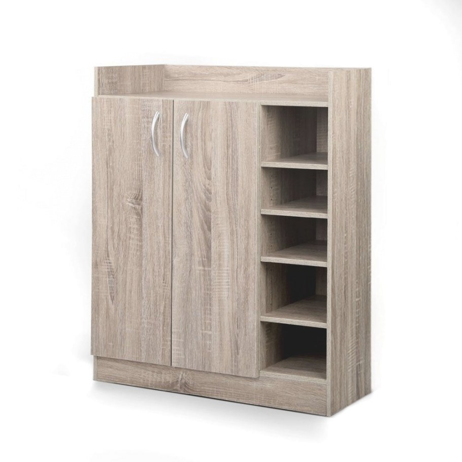 Oz Crazy Mall. 2 Doors Shoe Cabinet Storage Cupboard Wooden regarding Shoe Cabinet With Doors