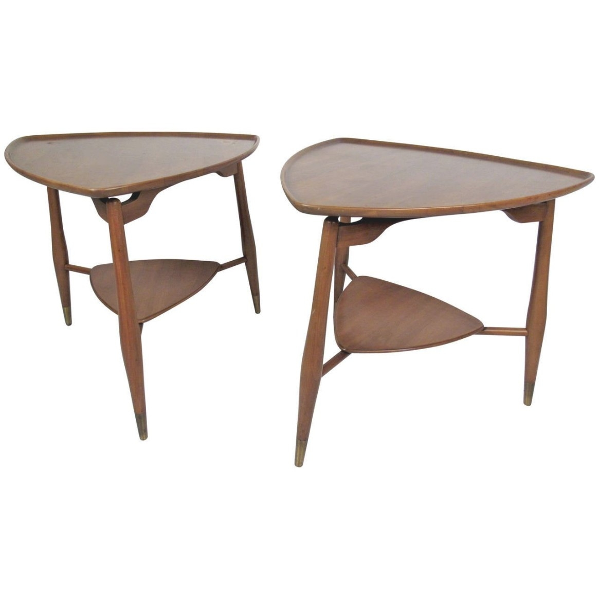 Pair Of Mid Century Modern End Tablesjohn Widdicomb throughout Mid Century Modern Side Table