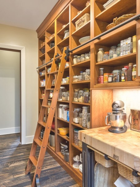 Pantry Ladder Home Design Ideas, Pictures, Remodel And Decor intended for Library Ladder In Kitchen