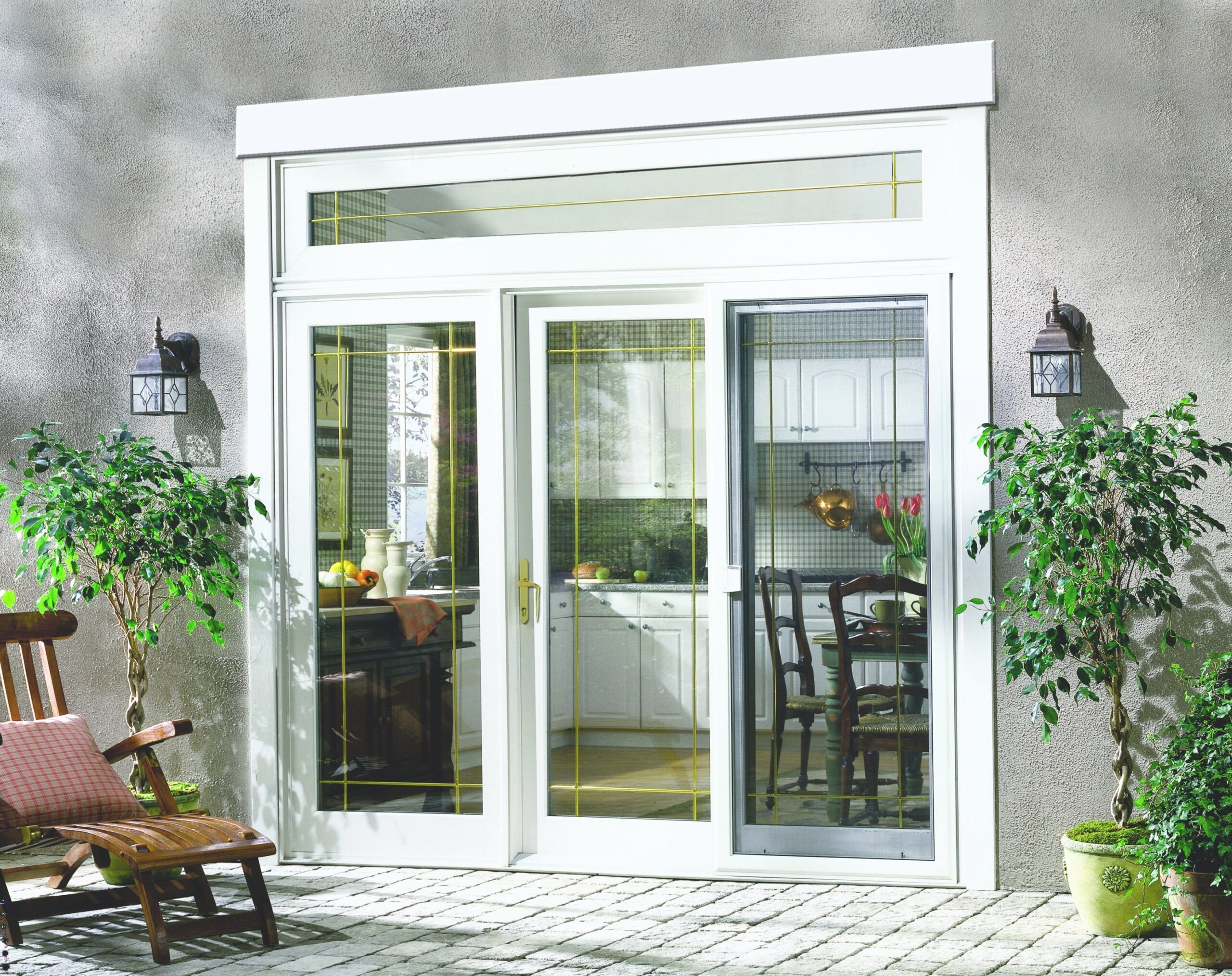 Patio Backyard French Doors Sliding Door Screen Anderson regarding Exterior Door With Built In Pet Door Lowes