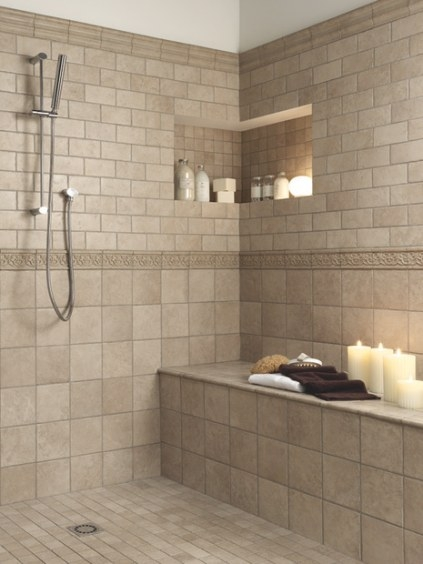 Perfect Tile Shower Bench | Carmel | Tile Indianapolis with Walk In Shower With Bench