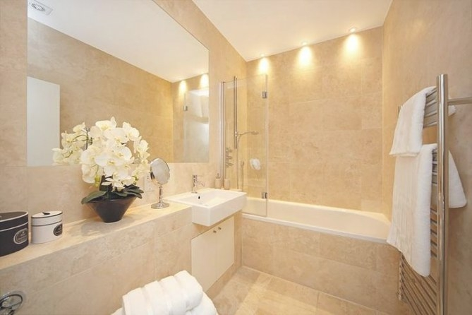Photo Of Beige Bathroom | Beige Bathroom, Beige Marble intended for Cream And White Bathroom