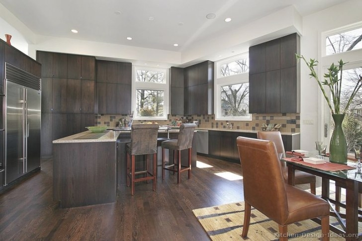 Pictures Of Kitchens - Modern - Dark Wood Kitchens (Page 2) within Dark Hardwood Floors Kitchen
