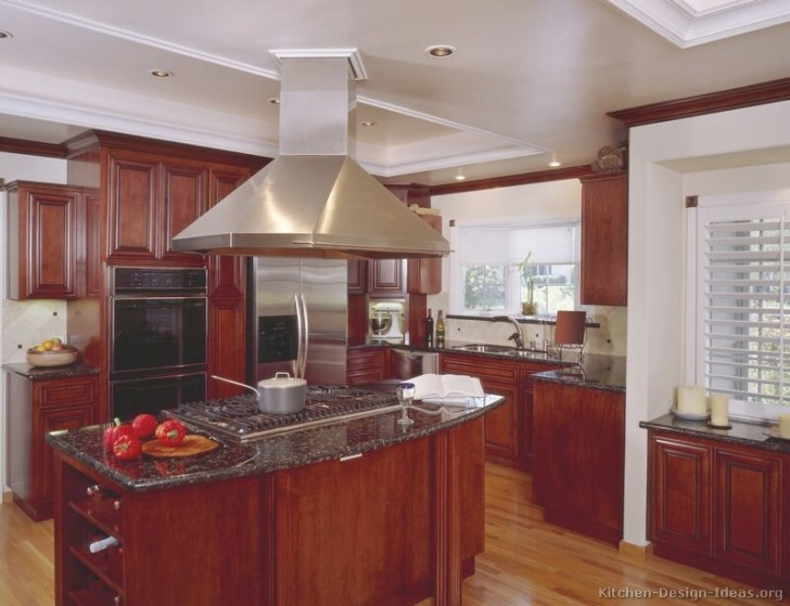 Pictures Of Kitchens - Traditional - Dark Wood Kitchens pertaining to Cherry Wood Cabinet Kitchens
