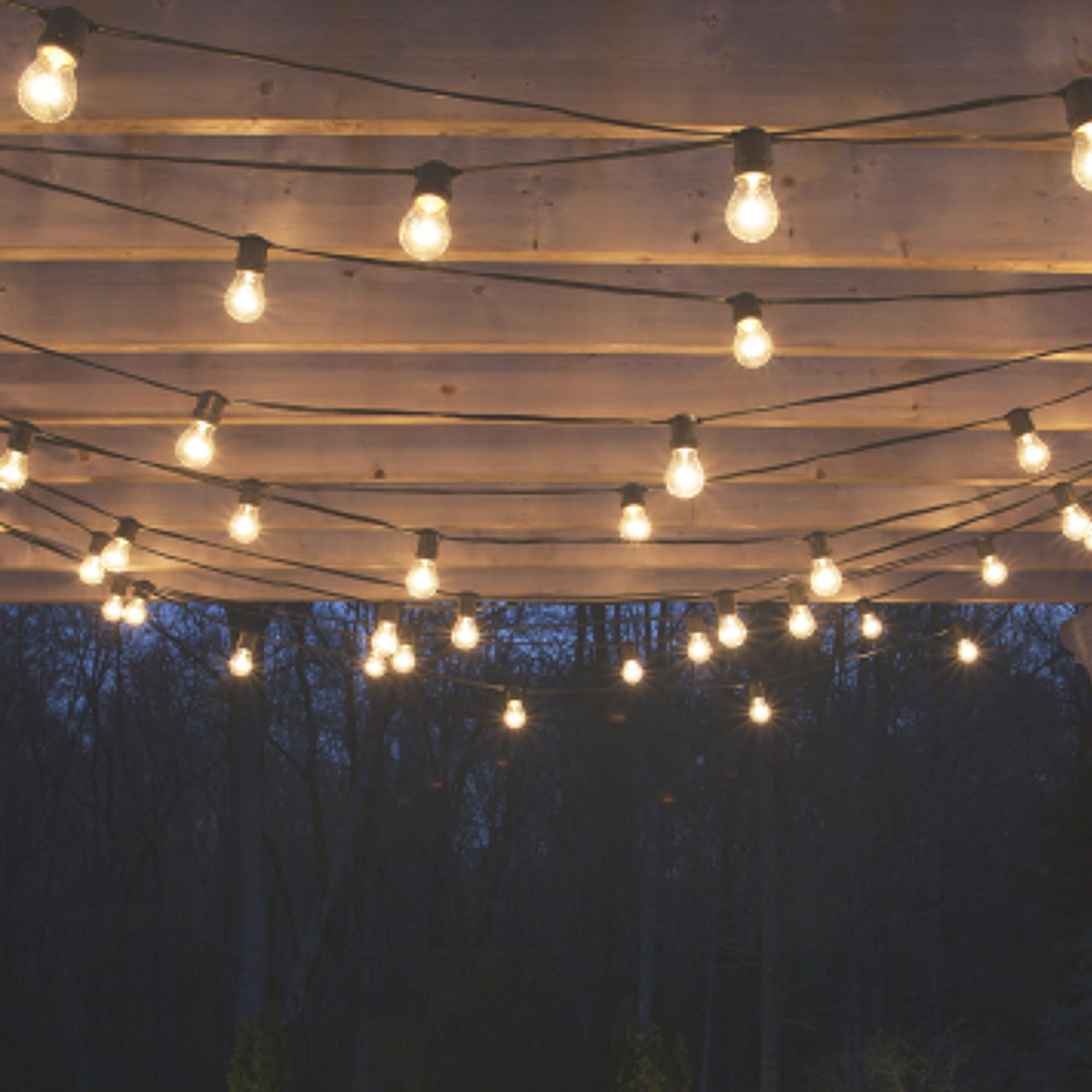 Pin On Lake House for How To Hang Outdoor String Lights