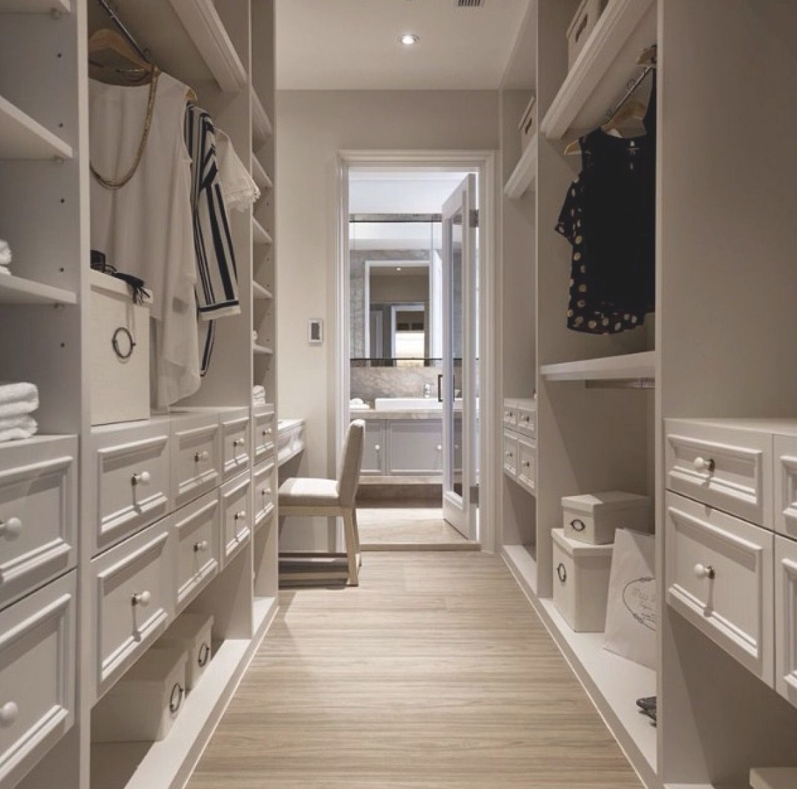 Pinantonia Verderame On The Organized Closet inside Walk Through Closet To Bathroom