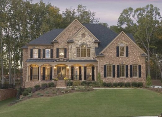 Pinopulence Venton On Dream Houses | House Design regarding Brick And Stone Homes