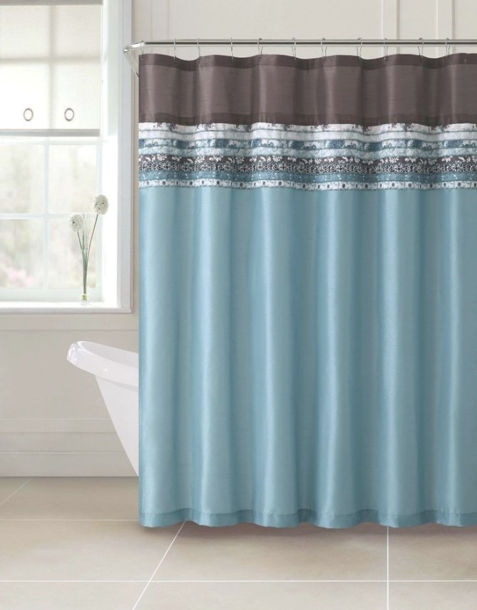 Poetica Faux Silk Aqua Blue Teal Brown Turquoise Fabric intended for Turquoise And Brown Bathroom