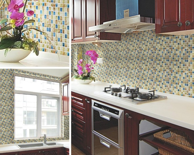 Porcelain Tile Snowflake Style Mosaic Art Design Gm0 inside Italian Tile Backsplash Kitchens