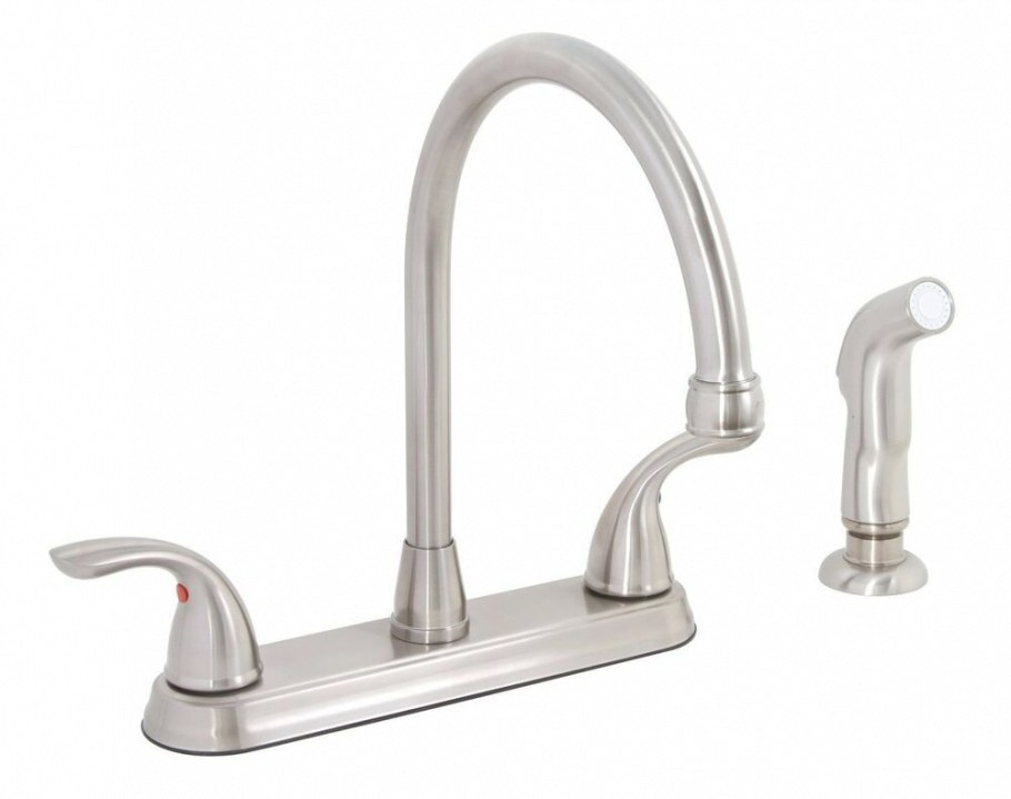 Premier 120448Lf Bayview Brushed Nickel Two-Handle Kitchen pertaining to Brushed Nickel Kitchen Faucet