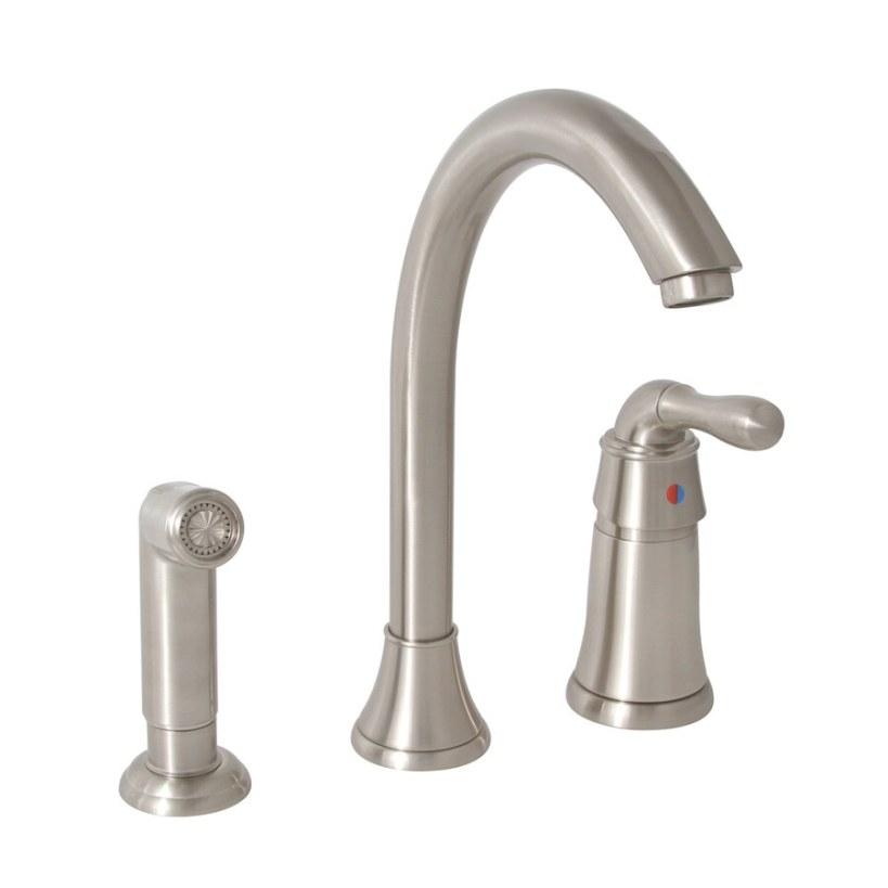 Premier Faucet Sanibel Brushed Nickel 1-Handle High-Arc within Brushed Nickel Kitchen Faucet
