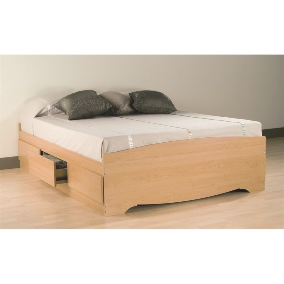 Prepac Maple Full Mate's Platform Storage Bed With 6 Drawers pertaining to Platform Bed With Storage