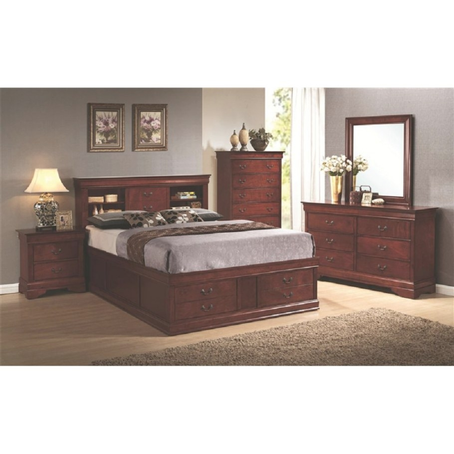 Queen Bed With Storage In Headboard And Footboard inside Queen Bed With Storage