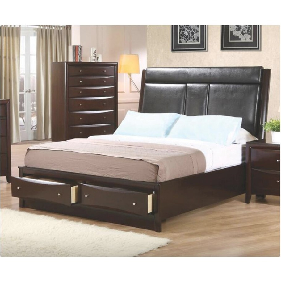 Queen Upholstered Storage Platform Bed for Platform Bed With Storage