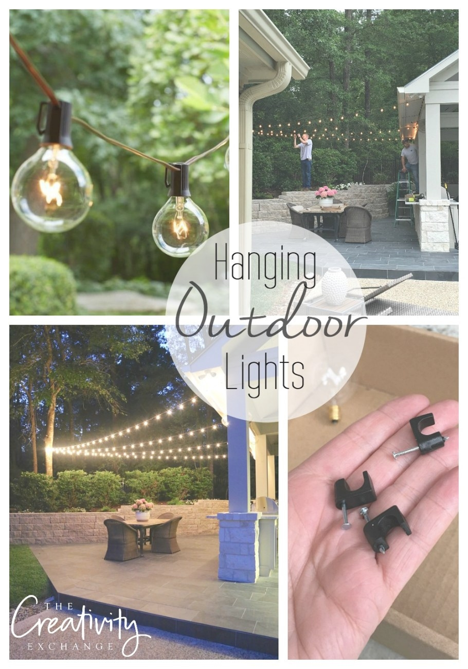 Quick Tips For Hanging Outdoor String Lights with How To Hang Outdoor String Lights