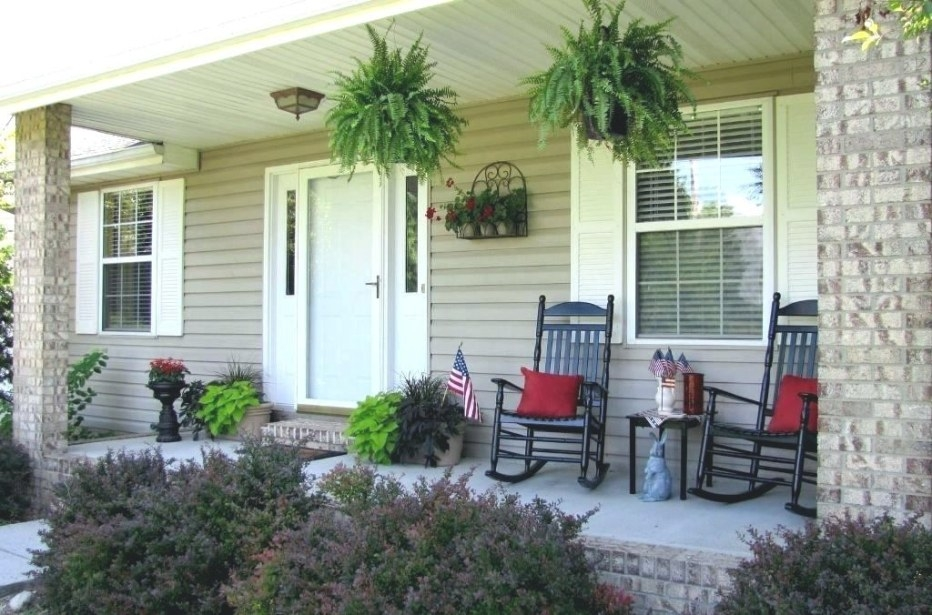 Ranch Patio Front House Landscaping Ideas For Yard Design pertaining to Back Porch Ideas For Ranch Style Homes