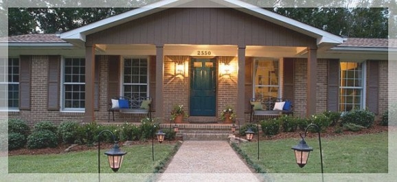 Ranch Style Homes With Front Porches Brick - Google Search with Back Porch Ideas For Ranch Style Homes