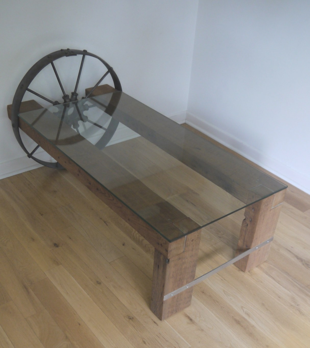Reclaimed Wood And Glass Coffee Table. Barn Wood throughout Wood And Glass Coffee Table