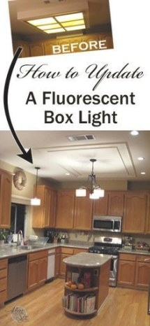 Replaced My Ugly Kitchen Fluorescent Light With This One pertaining to Replace Fluorescent Light Fixture In Kitchen