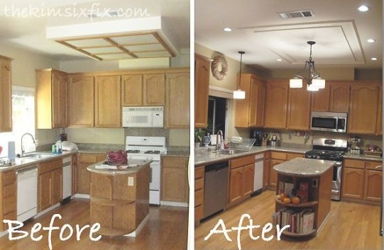 Replacing/Updating Fluorescent Ceiling Box Lights With regarding Replace Fluorescent Light Fixture In Kitchen