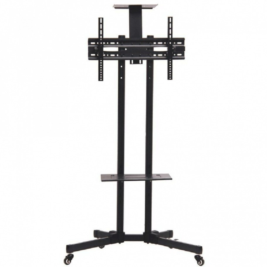 "Rolling Tv Cart Stand Mount W/ Wheels Mobile For 32""- 65 regarding Tv Stand On Wheels"