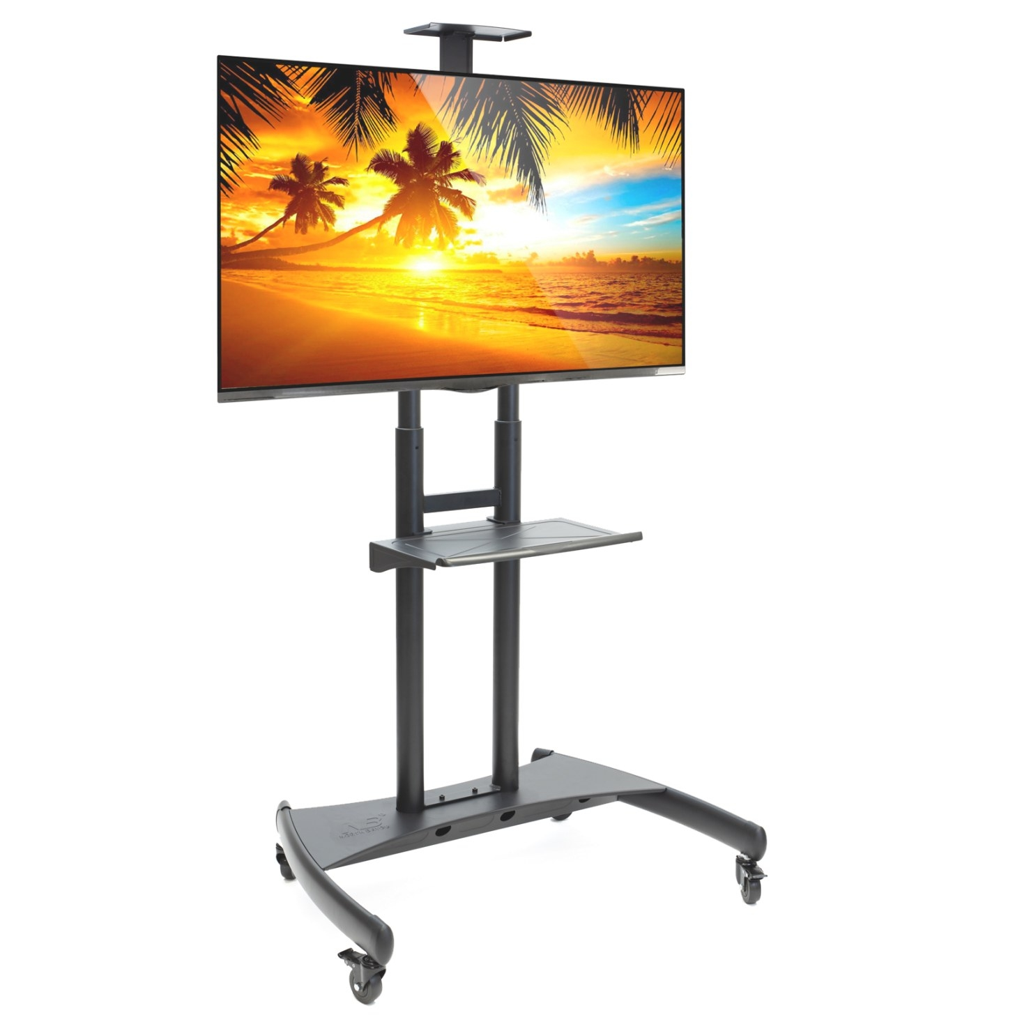 "Rolling Tv Stand Mobile Tv Cart For 55"" - 80"" Plasma pertaining to Tv Stand With Wheels"