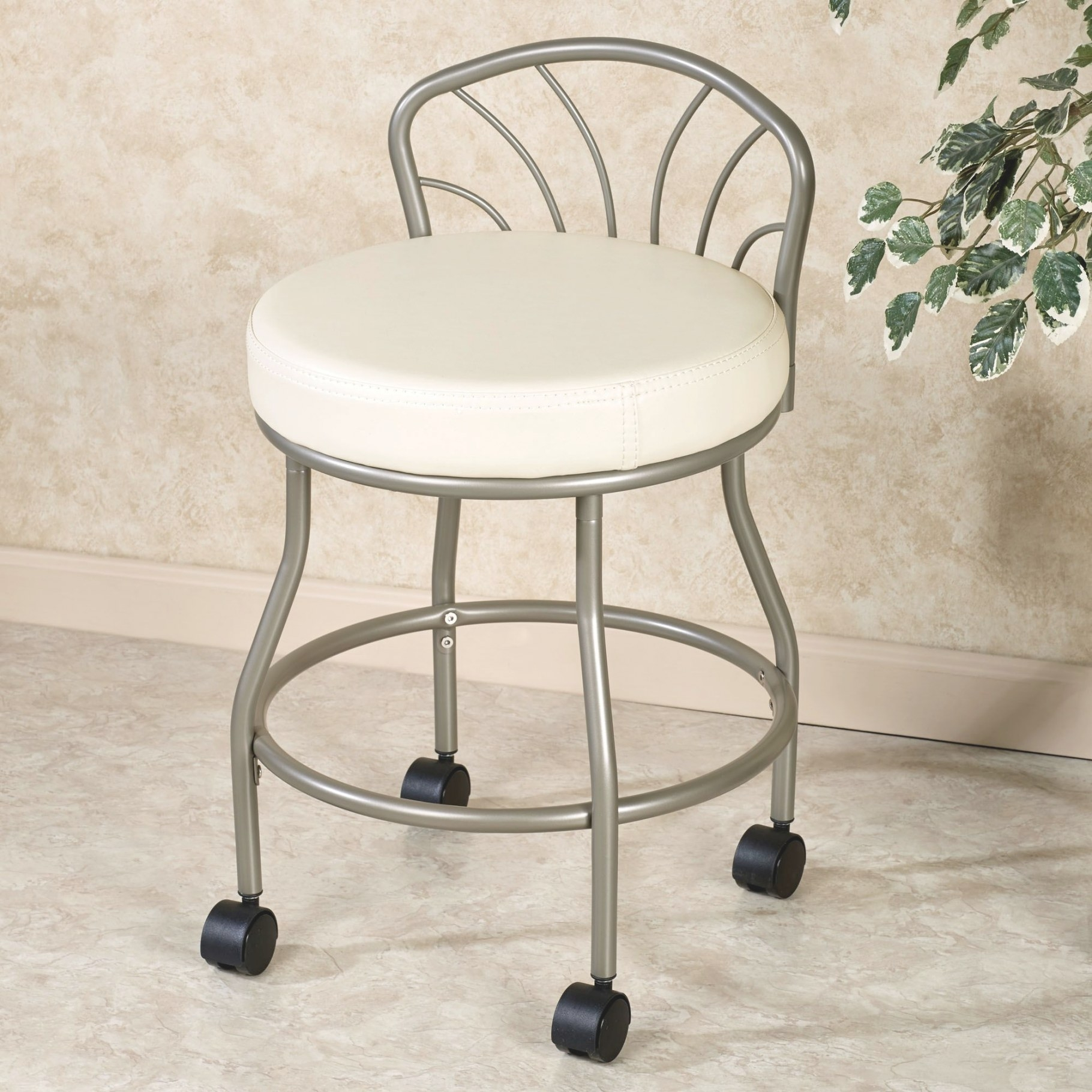 Rolling Vanity Stool – Homesfeed with regard to Vanity Seats For Bathrooms