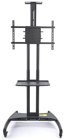 Rolling Widescreen Tv Stand | Wheels & Height Adjustable with Tv Stand With Wheels