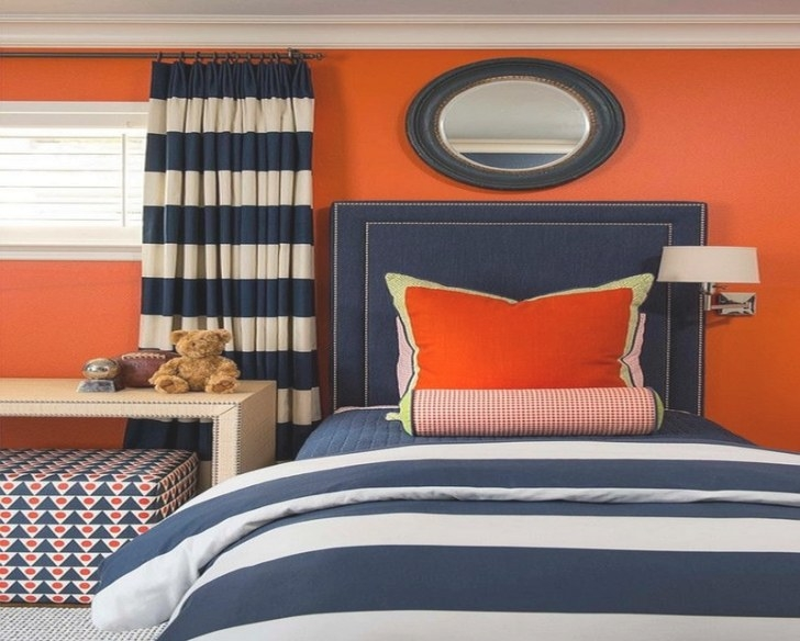 Royal Blue Painted Bed Room Furnitureteams inside Blue And Orange Bedroom