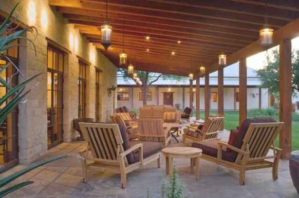 Rustic Hacienda Style Texas Ranch - Southwestern - Porch for Back Porch Ideas For Ranch Style Homes