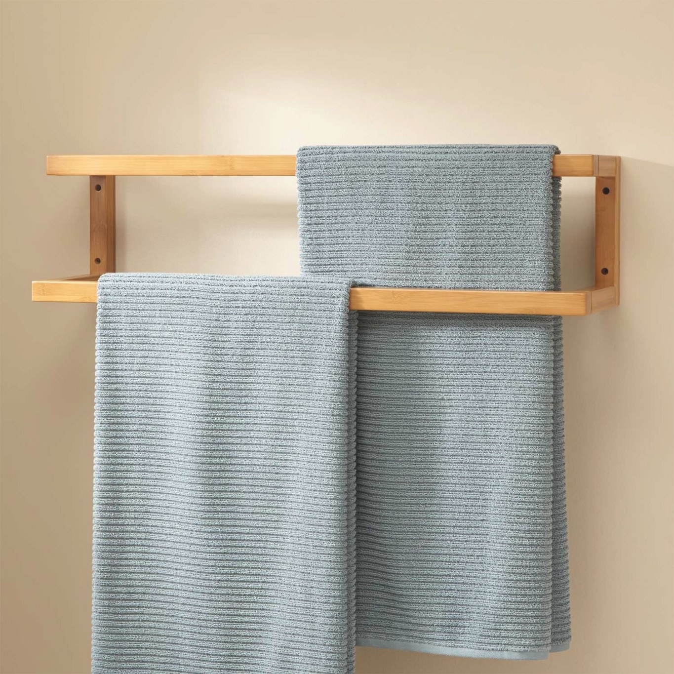 Salvatore Bamboo Mounted Towel Rack - Bathroom for Towel Racks For Small Bathrooms