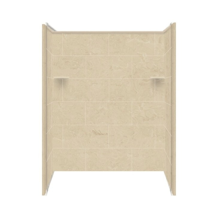 "Samson Solid Surface 72"" X 60"" X 36"" Three Panel Shower throughout Solid Surface Shower Wall Panels"