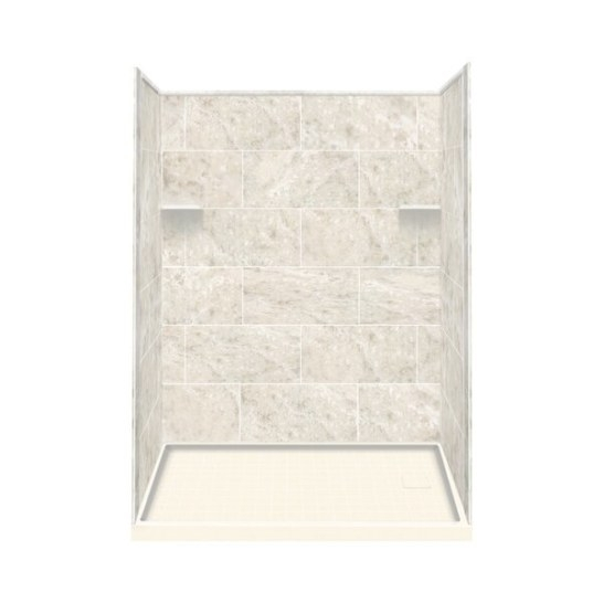 Samson Solid Surface Three Panel Shower Wall Kit & Reviews intended for Solid Surface Shower Wall Panels