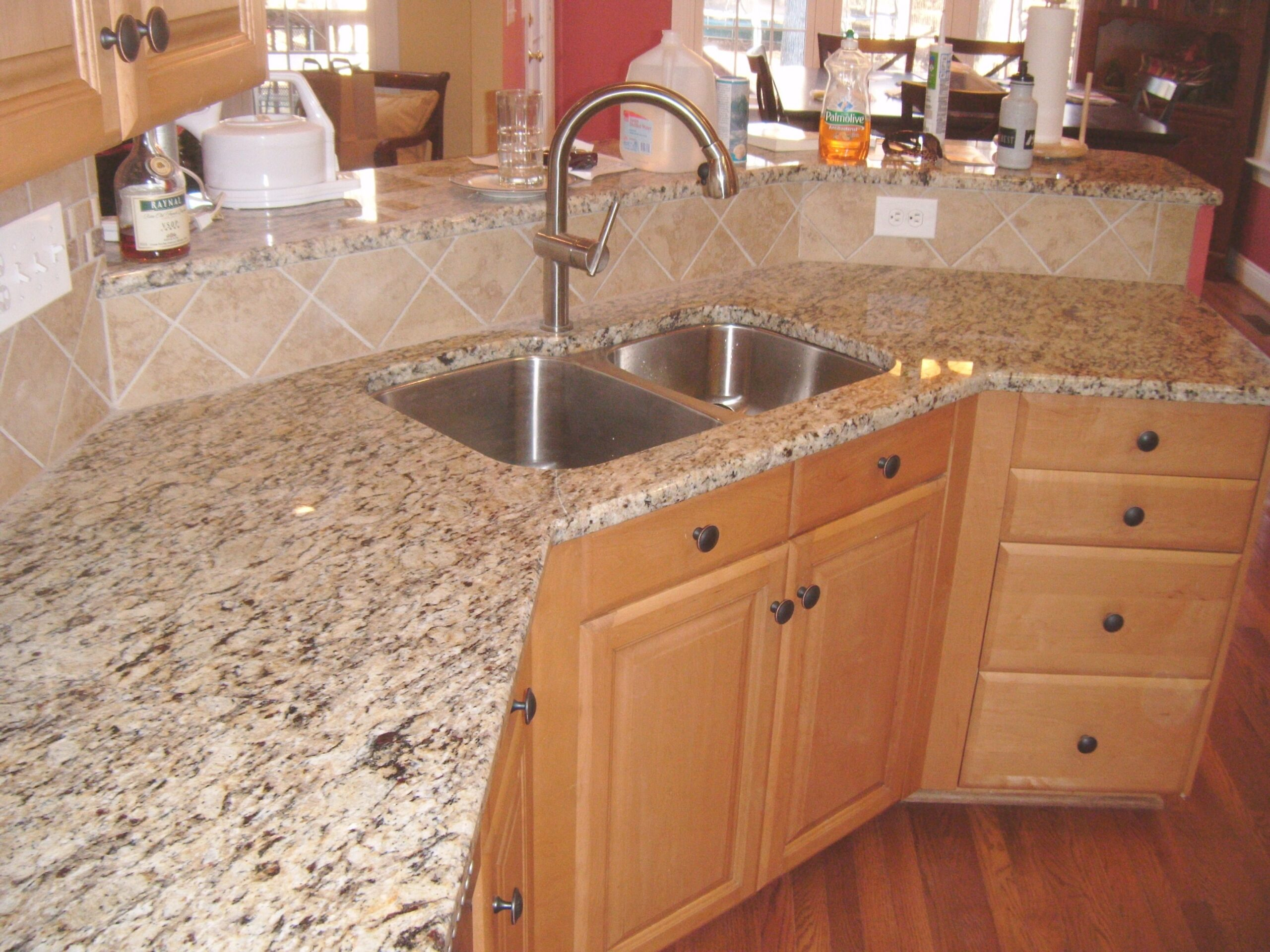 Santa Cecilia Granite With Tile Backsplash - Charlotte, Nc with regard to Santa Cecilia Light Granite