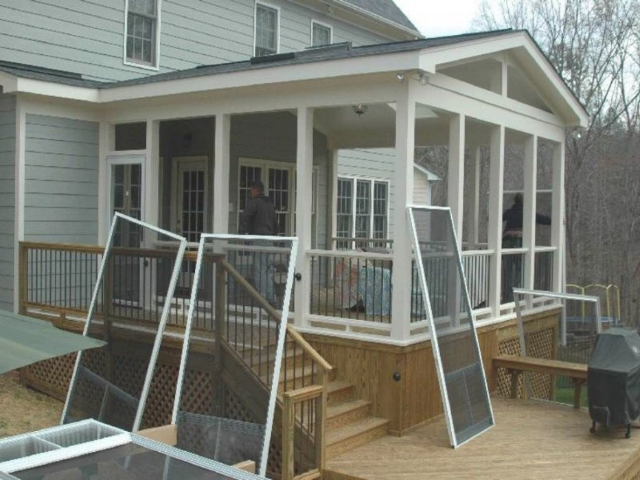 Screened In Porch Ideas:adorable Screen Porch Plans Do It for Screened In Porch Ideas