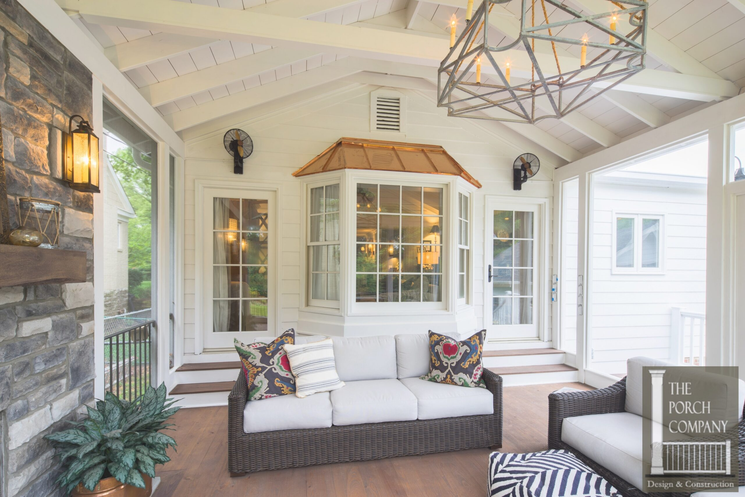 Screened Porch And Garage Oasis - The Porch Company throughout Screened In Porch Ideas