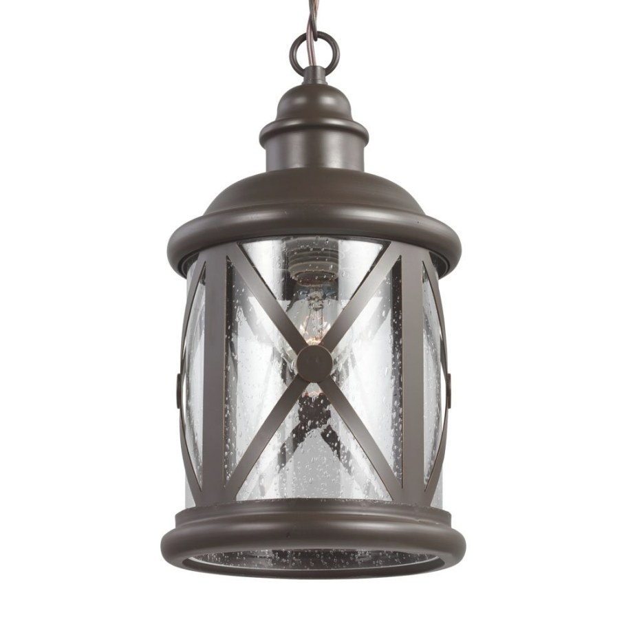 Sea Gull Lighting Lakeview 1 Light Foyer Pendant With pertaining to Seeded Glass Pendant Light