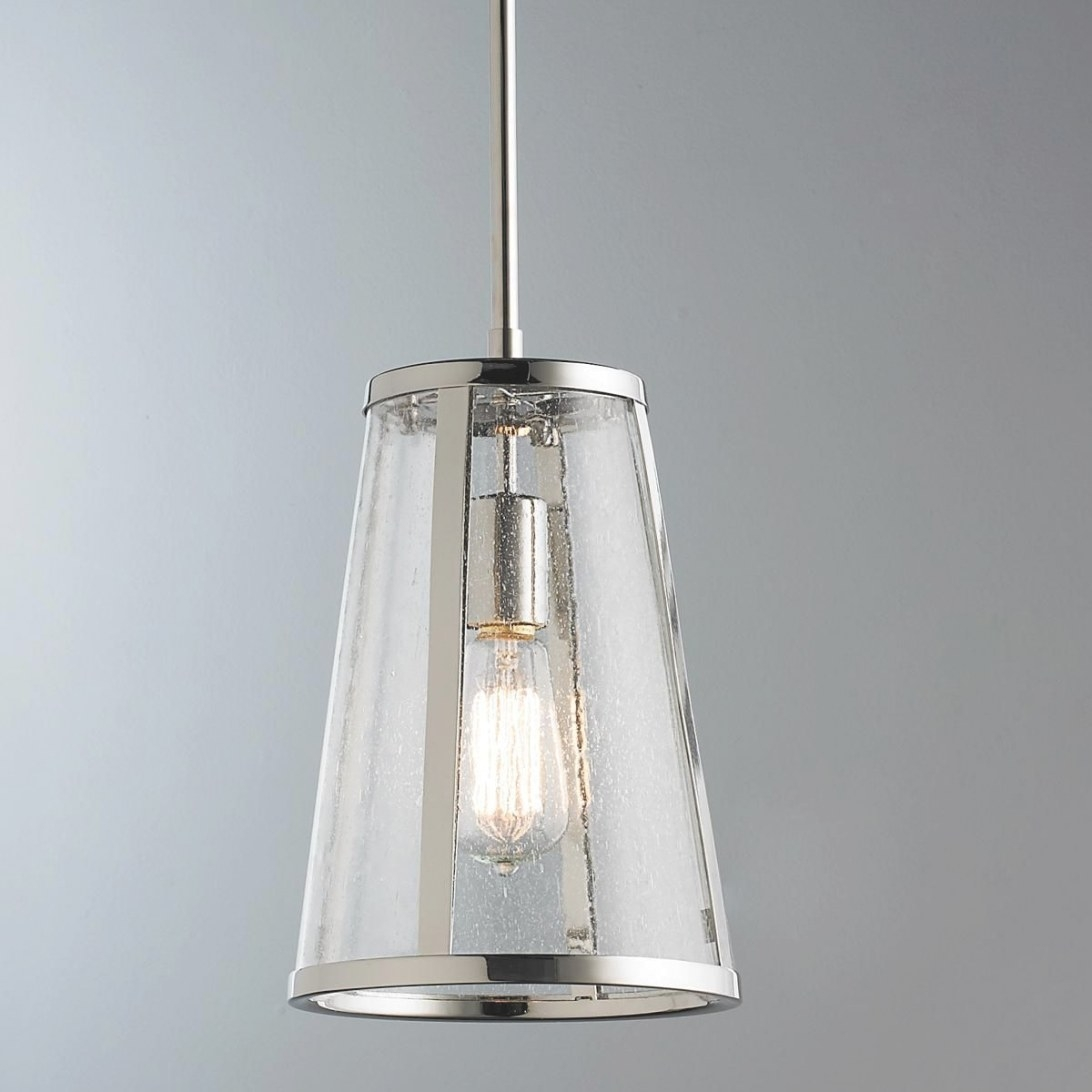 Seeded Glass Transitional Pendant - Small | Glass Pendant throughout Seeded Glass Pendant Light