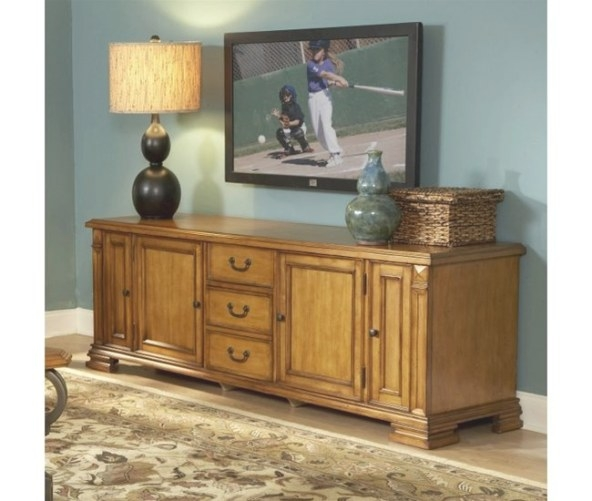 Serenato 80-Inch Tv Console In Ambra Finishriverside throughout 80 Inch Tv Stand