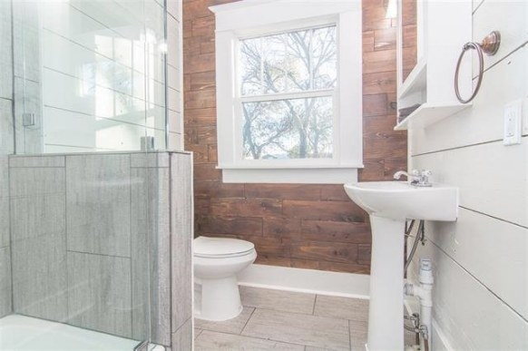 Shiplap Accent Walls And Spaces - Traditional - Bathroom throughout Accent Walls In Bathrooms