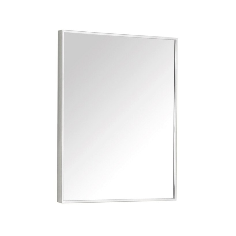 Shop Avanity 18-In Metal Rectangular Bathroom Mirror At inside Rectangular Mirrors For Bathroom