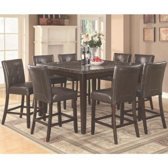 Shop Beverly Glen Counter Height 9 Piece Dining Set intended for 9 Piece Dining Set